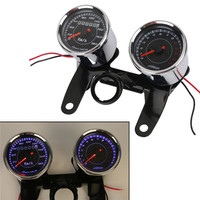 Universal Gauge Speed Mileage LED Motorcycle Tachometer Odometer Speedo Meter Custom For Chop Trike Project Streetfighter