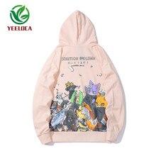 2019 jesienno zimowa Dropshipping Anime nadruk zwierzęta męska bluza z kapturem dorywczo wysokiej jakości modne projekty bluzy damskie i męskie