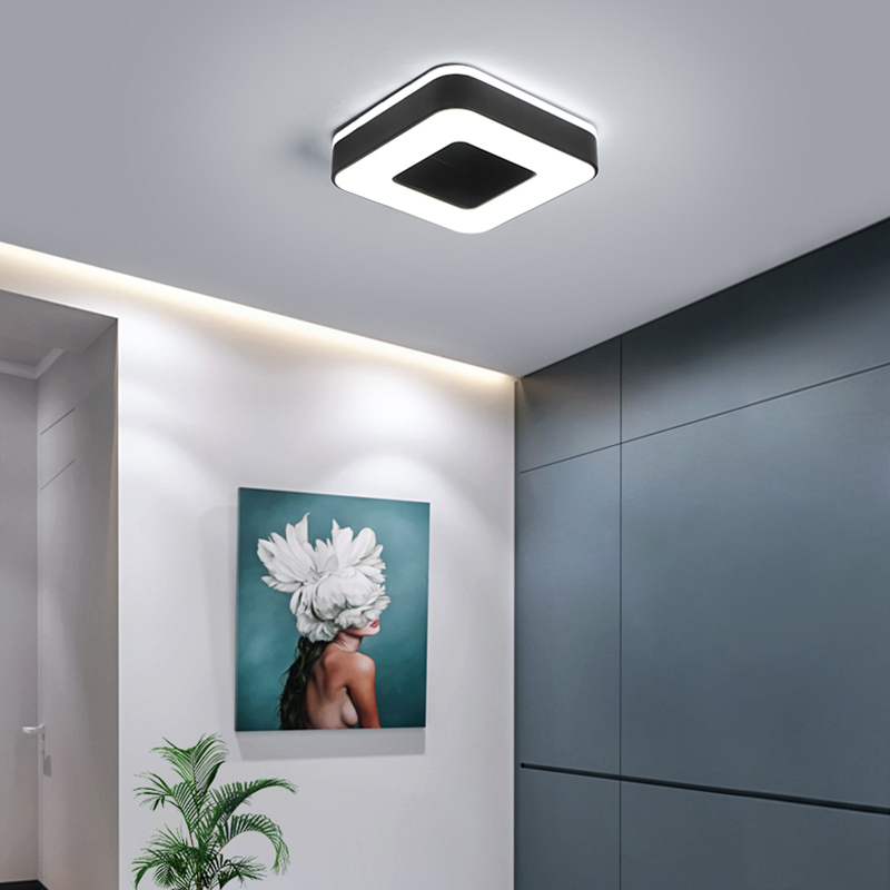 Image 5 - Diameter 240mm Modern LED Ceiling Light For Holly aisle corridor Bedroom Black or White Square/Round/Triangle led Ceiling Lamp-in Ceiling Lights from Lights & Lighting