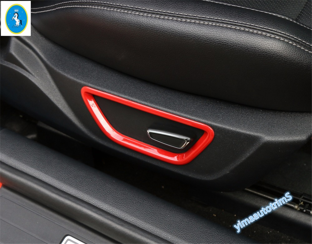 4 Color For Choice ! ABS For Ford Mustang 2015 2016 2017 Seat Adjustment Button Decoration Ring Molding Cover Trim 2 Pcs / Set