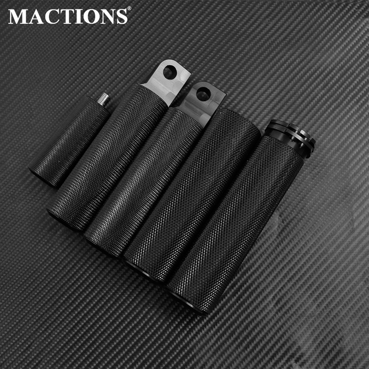 Motorcycle  1''Hand Grips FootPegs Footrest Pedal Shift Nails Black Set For Harley Sportster Touring Dyna Softail Custom Models
