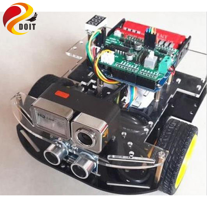 Voiture d'origine DOIT RC pour Arduino avec caméra HD + WiFi + carte Uno + bouclier Uno + châssis de voiture + Kit de développement accessoire bricolage