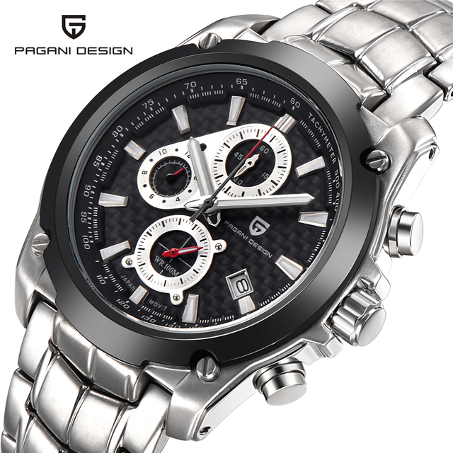 Relogio Masculino 2016 Multifunctional Brand Sport Military Watches Men Waterproof Stainless Steel Quartz Watch Pagani Design