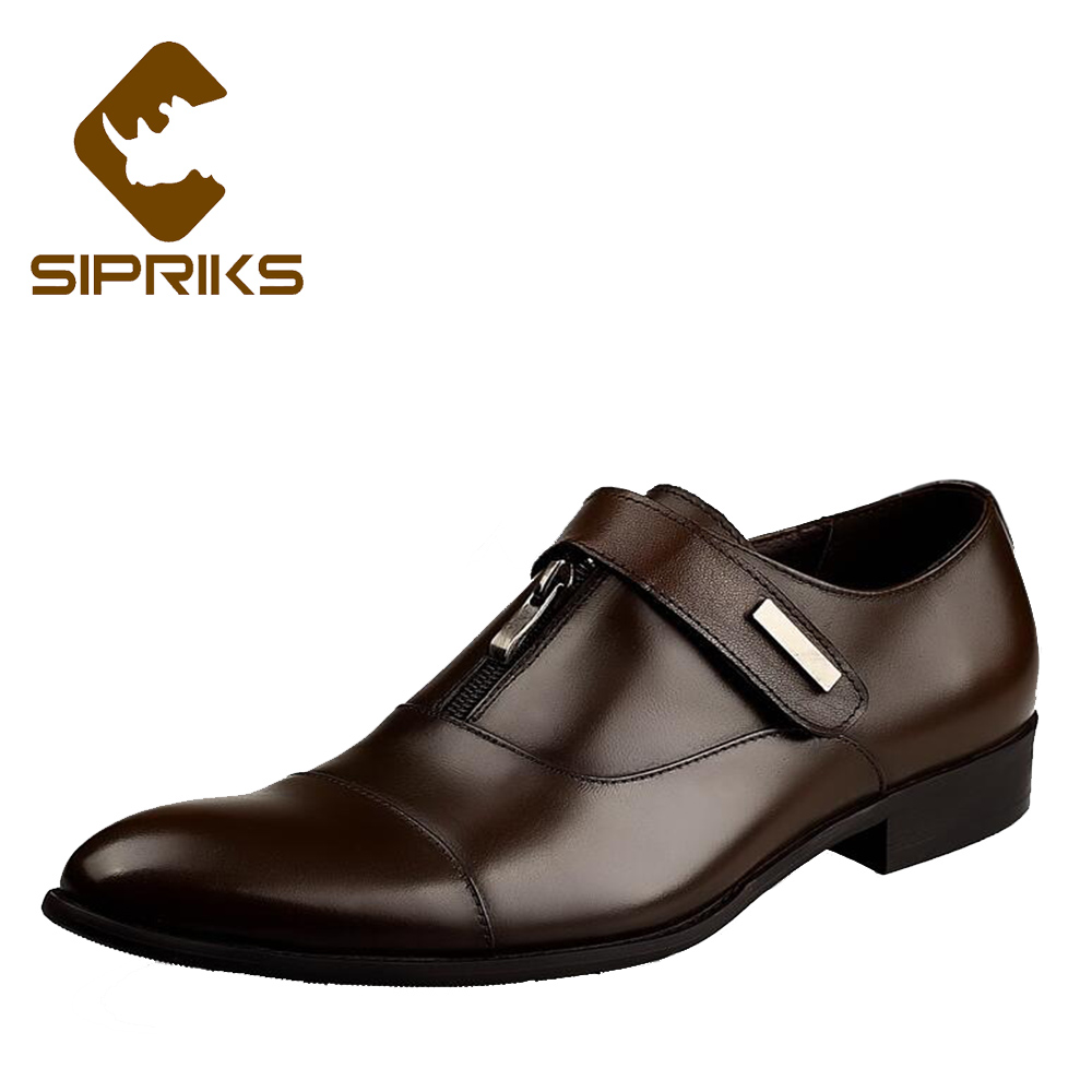 Formal Shoes Hot Sale Sipriks Mens Genuine Leather Brown Derby Shoes Printed Crocodile Skin Formal Dress Shoes Party Evening Wedding Wear Tuxedo Shoes