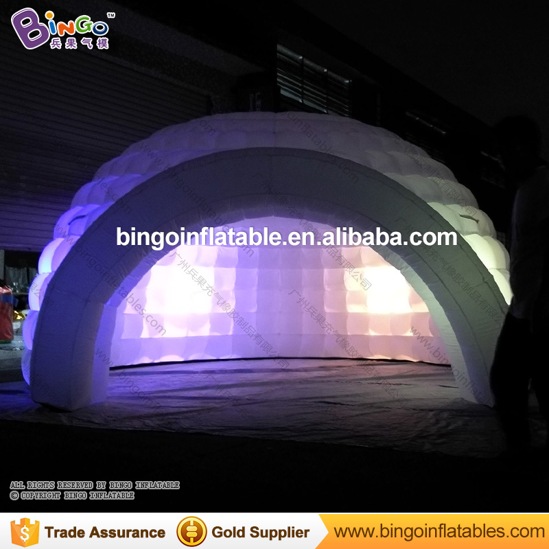 Free shipping 5meter diameter Color changing LED lighted inflatable dome tent/ igloo tent/ inflatable tent with LED BG-A1239 6 5ft diameter inflatable beach ball helium balloon for advertisement