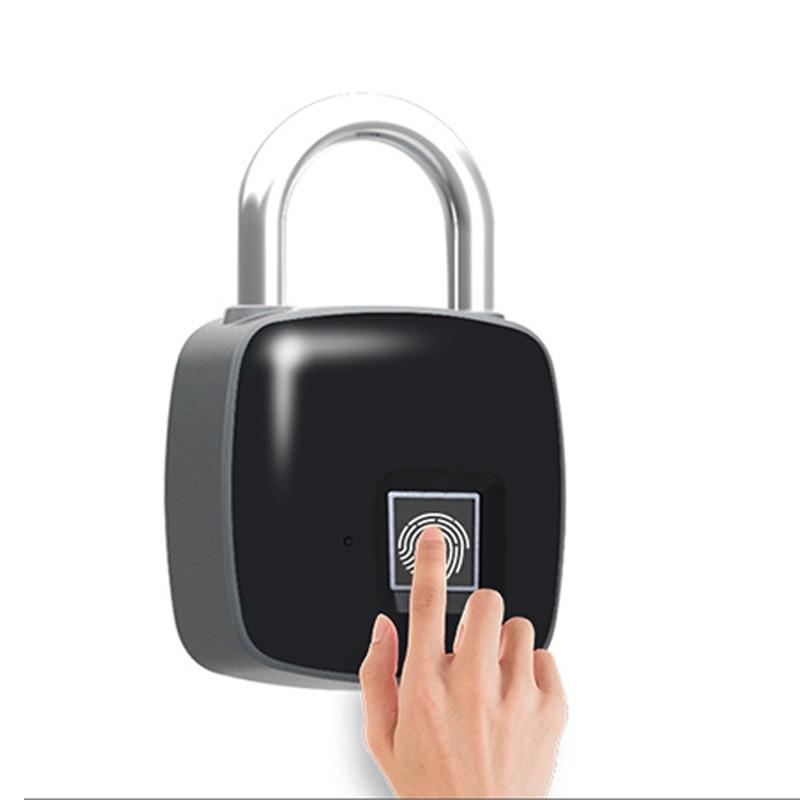 P3 Fingerprint Padlock Electronic Intelligent Padlock Non-password Lock Household Locker Anti-theft Fingerprint Lock