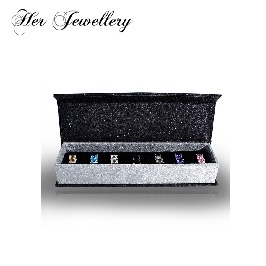 Ses bijoux 7 jours boucles d'oreilles ensemble fait avec des cristaux de swarovski, offre spéciale boucles d'oreilles bijoux pour les femmes HE0234
