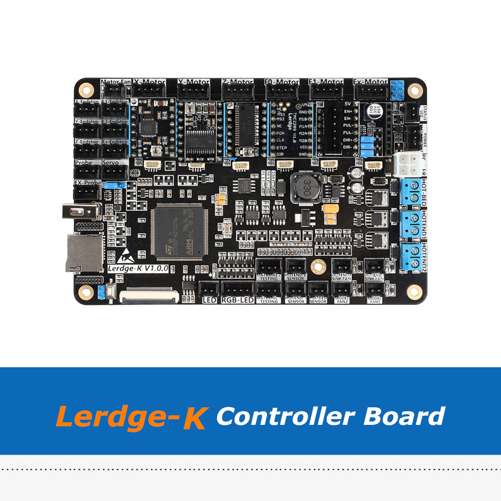 3D Printer Board ARM 32Bit Lerdge-K Control Motherboard For Dual Extruder With 6pcs A4988 Drv8825 LV8729 TMC2100 TMC2208 Driver цена