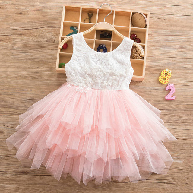 804da46ea9 Infant Toddler Girls Dresses Backless Lace Cake Children Princess Tutu  Party Prom Dress Girl Kids Summer Clothes 2 6T-in Dresses from Mother   Kids  on ...