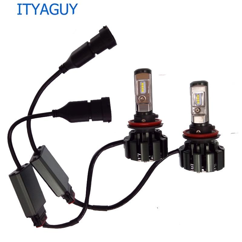 2 pcs T6 led h7 h4 phare décodeur led ampoule de phare H1 H3 H11 9005 9006 Salut/Lo Faisceau CSP Puce 12 V 30 W 6000 K