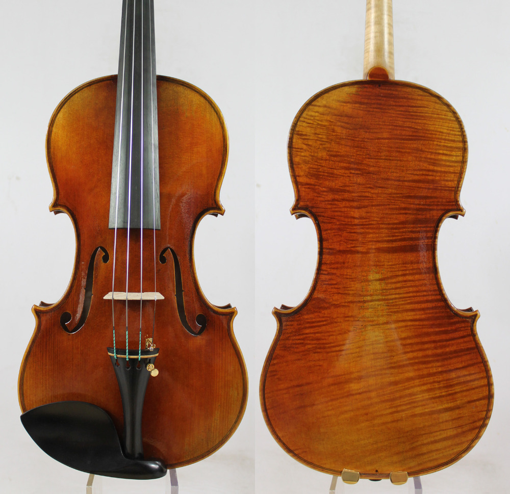 60-y Spruce tua! Guarnieri 'del Gesu''Ole Bull' Violin violino Salin! M9018 One Pc Back! Konser 4/4 Violin, Top Varnish Minyak