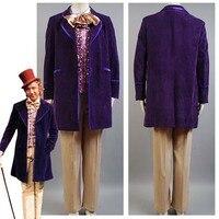 вилли вонка и шоколадная фабрика мужчин 1971 куртки, пальто пант галстук для мужчин фильм хэллоуин косплей костюм на заказ