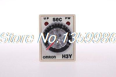 10pcs  time timer relay 8pin H3Y-2 H3Y AC220V  5A 0.5-10Seconds 10S genuine taiwan research anv time relay ah2 yb ac220v
