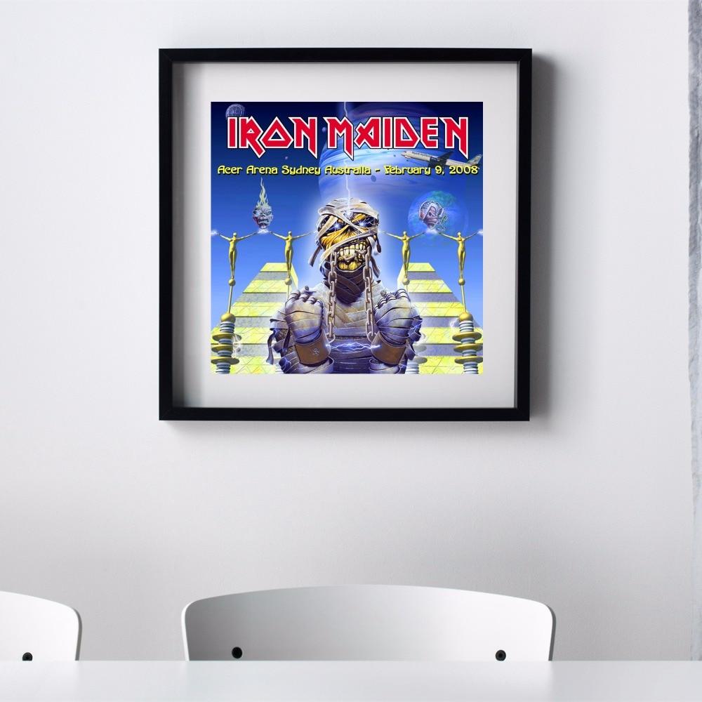 iron maiden estilo momia vintage canvas art print poster pared cuadros para la sala la decoracin
