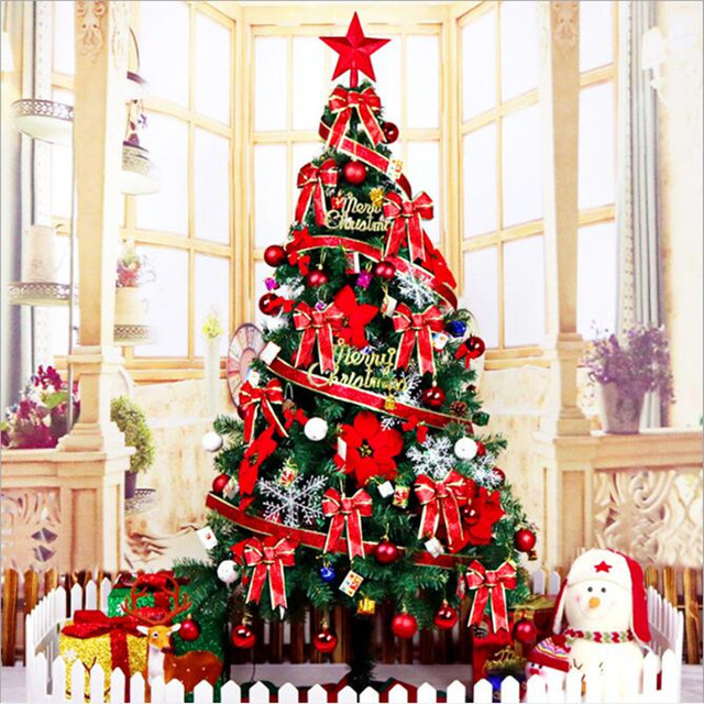Christmas Tree 1.8 m Encryption Light Large Christmas Tree Set Hotel shopping Mall Home Decorations Toys for Children
