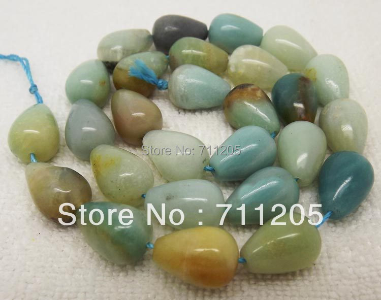 10x14mm Natural Multi-Color Amazonite Waterdrop Loose Beads 15,Min.Order is $10,we provide mixed wholesale for all items!