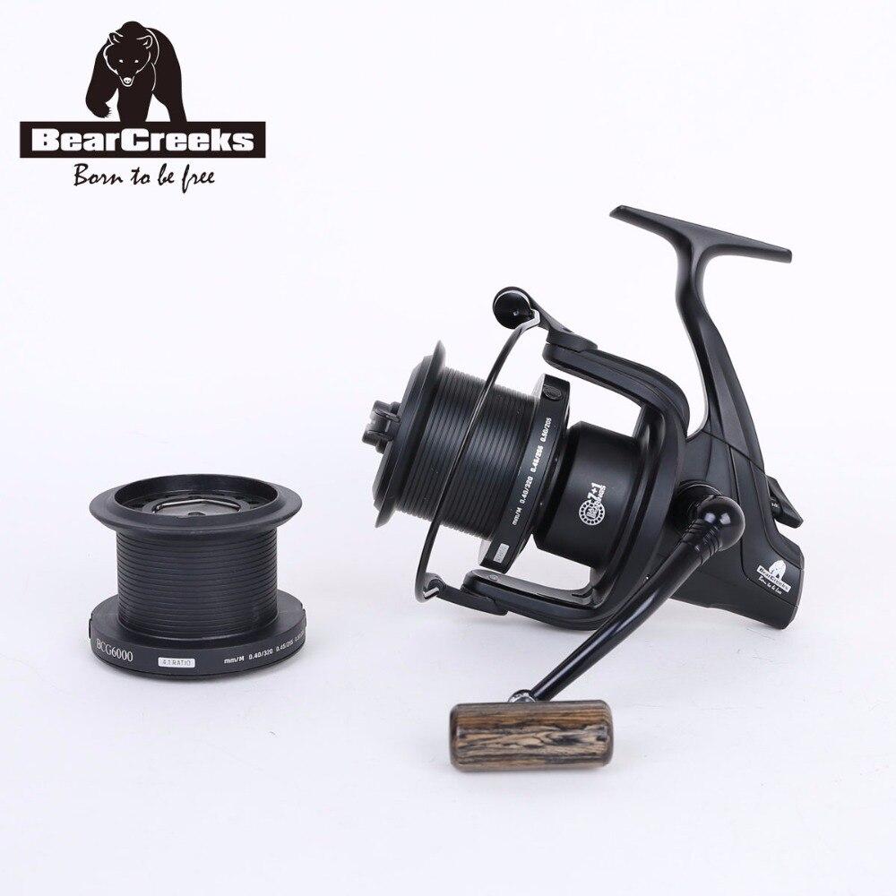 BearCreeks BCG6000 Carp Fishing Long Cast Big Pit Reel Spinning Reel 7 1Ball Bearings Fishing Reel