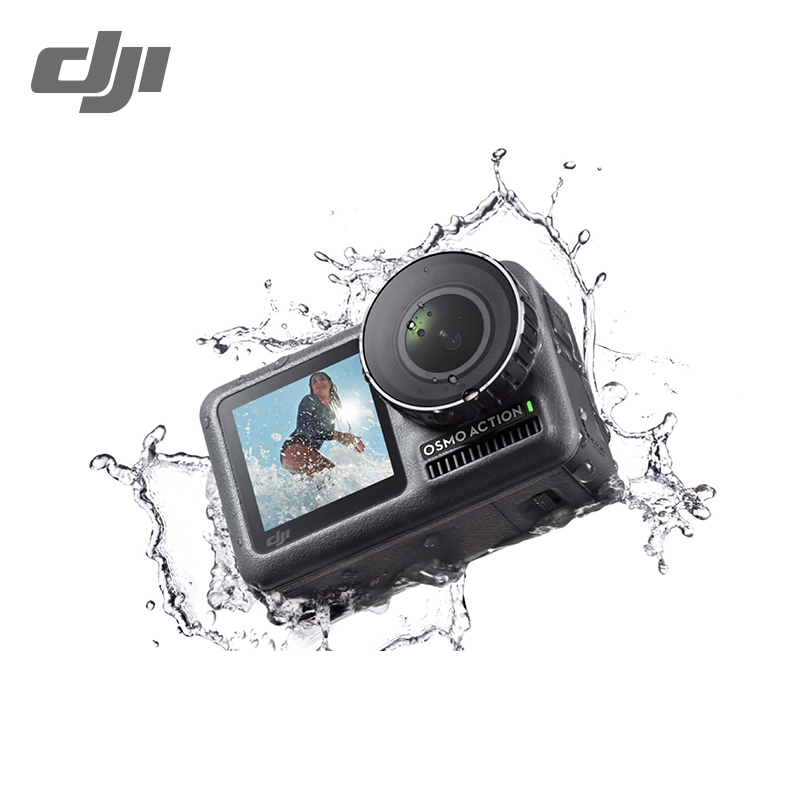 "DJI Osmo Action Cameria 1/2. 3 ""CMOS 12MP 4K HDR Video 11m Waterdichte Dual Schermen 8xSlow Motion UHD Kwaliteit IN Voorraad cameries-in Luchtfoto camera´s van Consumentenelektronica op  Groep 1"