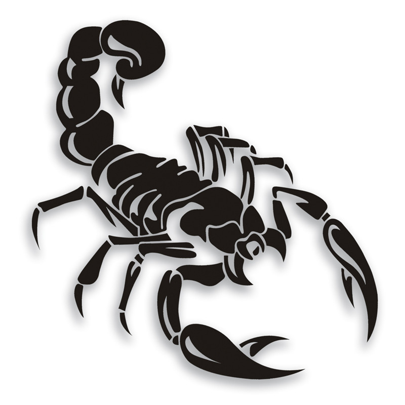 2017 Hot Sale Rushed The Whole Body Cartoon Glue Sticker Big Scorpion Reflective Personalized Car Trunk Styling Bumper