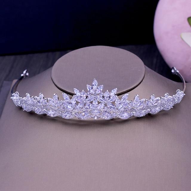 Купить женские тиары из фианита aaa модные аксессуары для волос свадебная