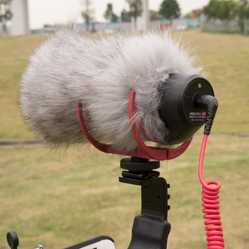 DHphoto Microphone Windshield Windscreen for RODE VideoMic Go and Takstar SGC-598 MIC-01 DeadCat Go Artificial Fur Wind Shield