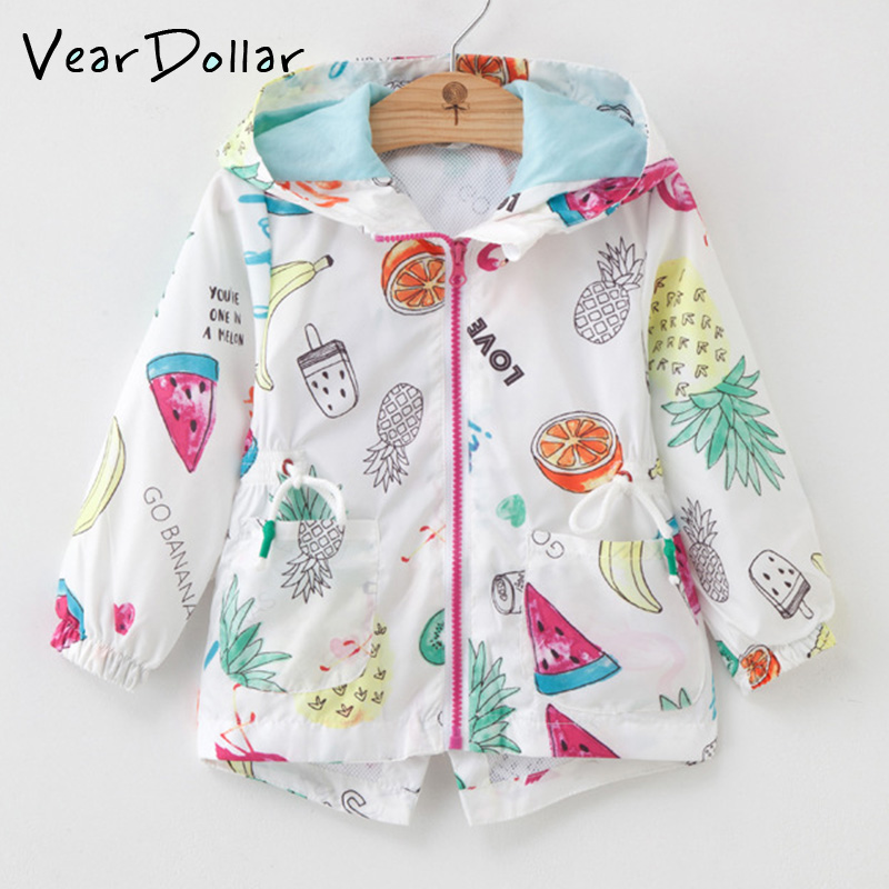 be56e0ad3af VearDoller Children s Coat Outwear 2018 New Autumn Cartoon Print Boys Girls  Jacket Long Sleeve Trench for