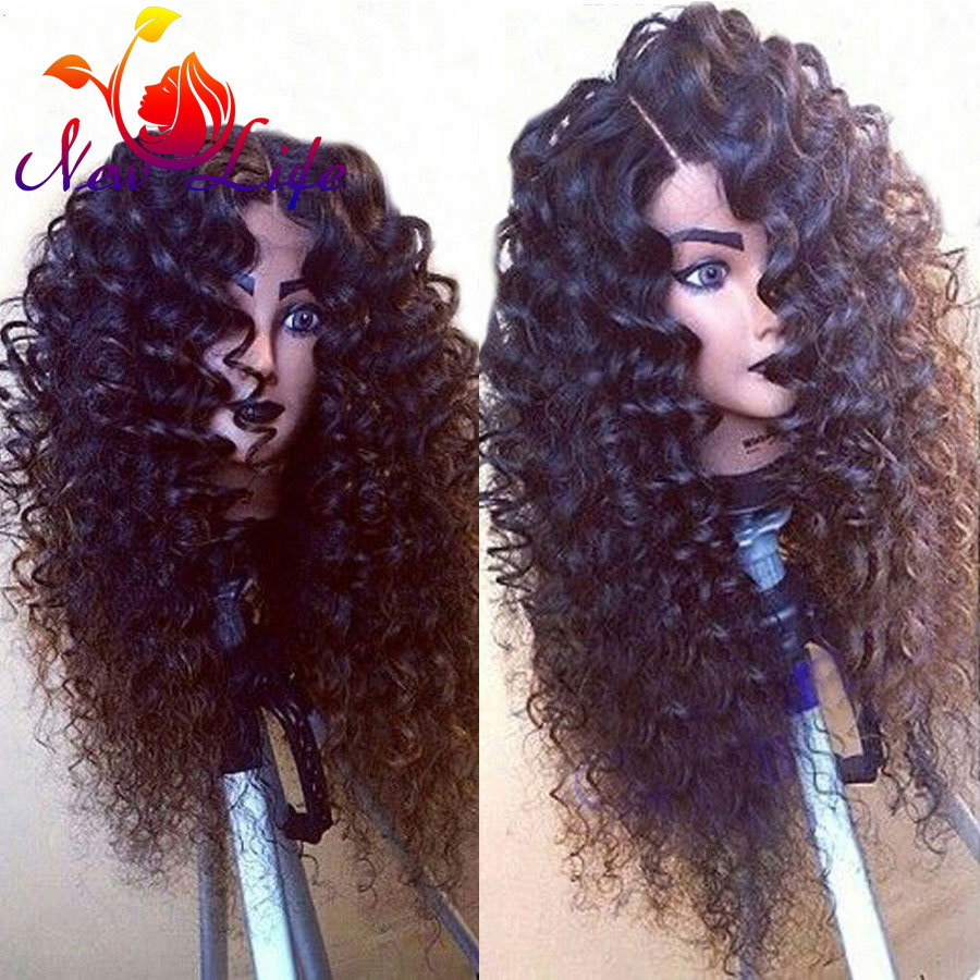 Afro Wig Curly Synthetic Wigs For Black Women Kinky Curly