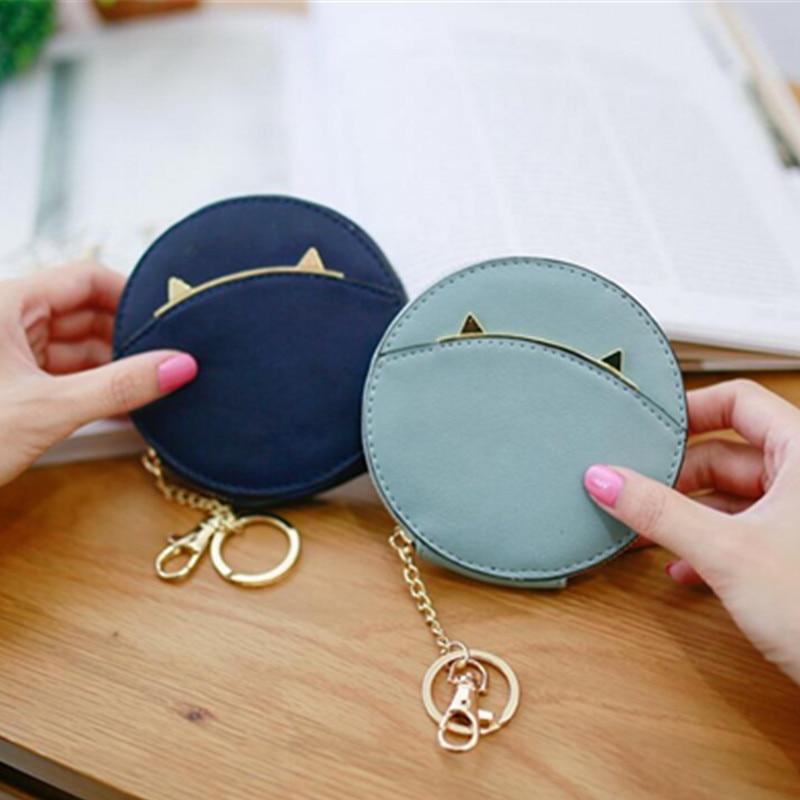 Leather Coin Purse Women Small Wallet Change Purses Money Bags Childrens Pocket Wallets Key Holder Mini Zipper Pouch