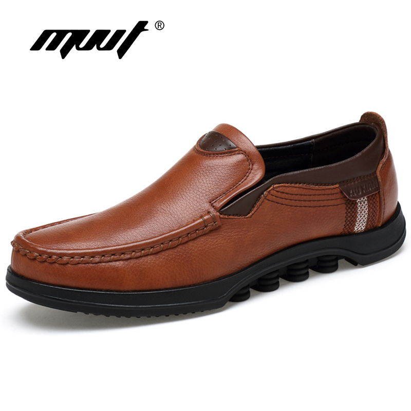 MVVT Plus Size Men Genuine Leather Shoes Men Formal Shoes Warm Winter Oxfords Solid Slip-On Dress Shoes Fashion Men Shoes цены онлайн