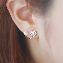 XIYANIKE – boucles d'oreilles en argent Sterling 925, bijoux de luxe, perles, fleurs, charmantes pierres de cristal, haute qualité, cadeau pour femmes