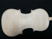 Aged Maple Back Whole Piece White Violin 4/4 Spruce Top Ebony Fingerboard Nice Wood Grains