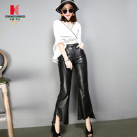 High Waisted Wide Leg Pants Black Trousers Tailored Trousers Womens Leather Pants Fashion What To Wear Leather Jeggings Tights