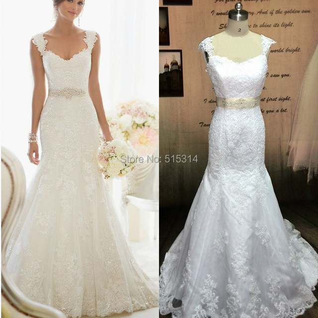 photos applique lace wedding dress mermaid sweetheart wedding gowns