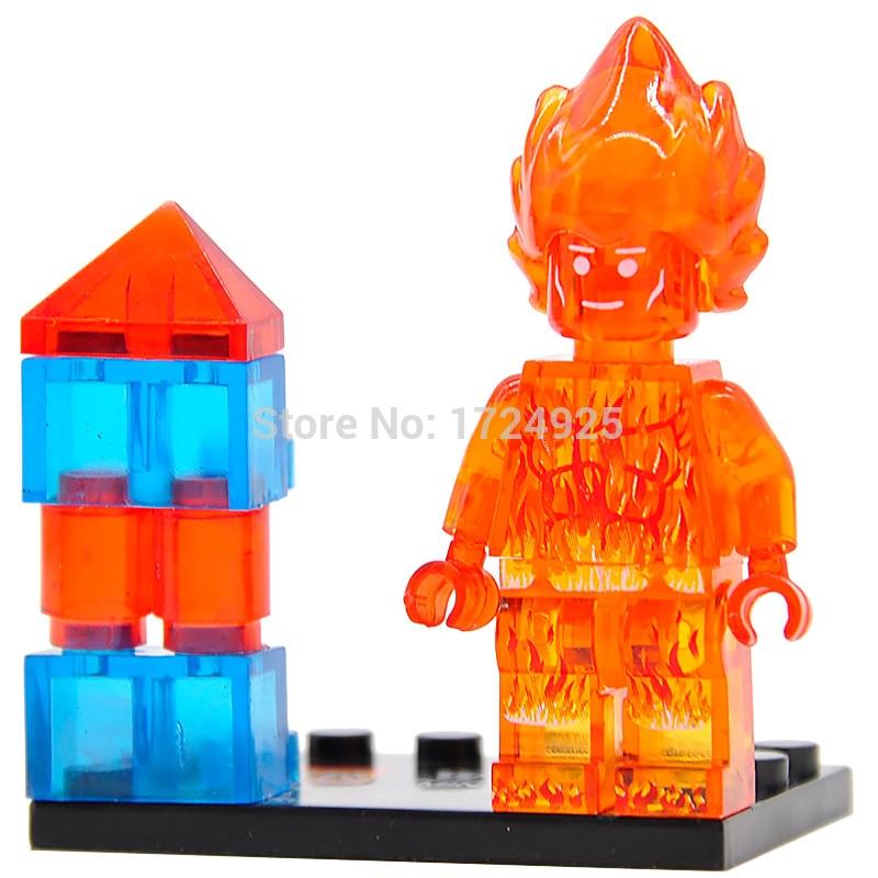 Single Sale Human Torch Galactus Silver Surfer Figure Building Blocks Marvel Fantastic Four Super hero Sets Models Toys