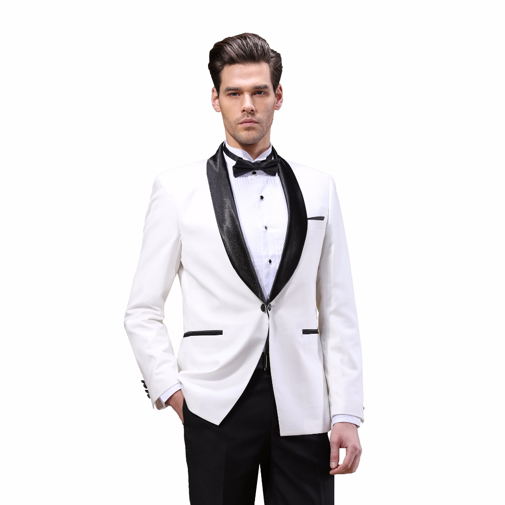 5a326c33a1 DARO Luxury Mens Suits Jacket Pants Formal Dress Men Suit Set Wedding Suits  Groom Tuxedos (Jacket+Pants) Wihte DARO8855-in Suits from Men's Clothing on  ...
