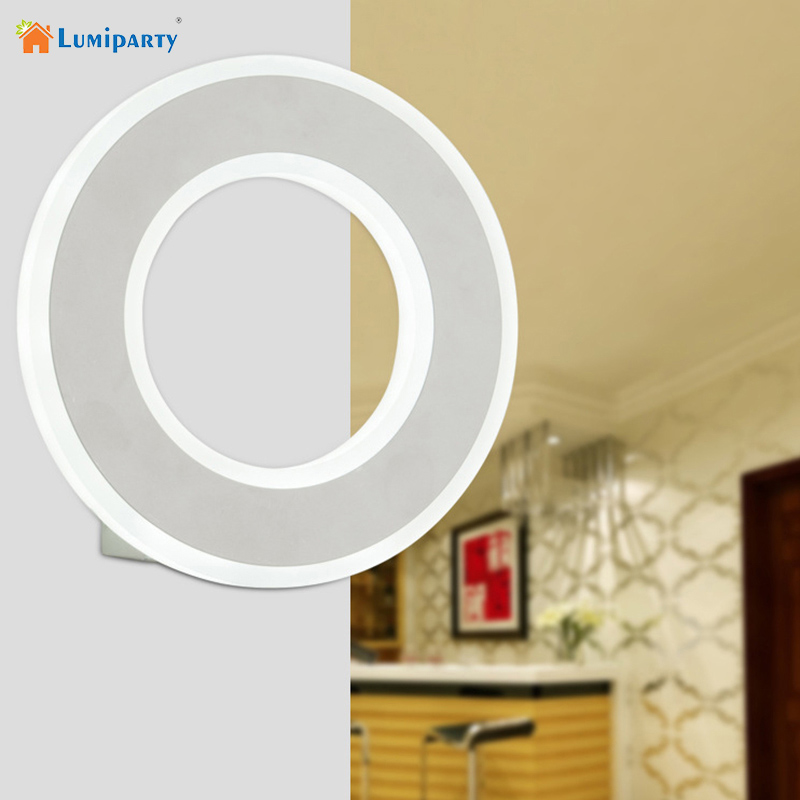 LumiParty New Modern Acrylic Wall Lamp Baby Home Bedroom Decoration Round LED Night Light Lamp Night lights Light Romantic yimia creative 4 colors remote control led night lights hourglass night light wall lamp chandelier lights children baby s gifts