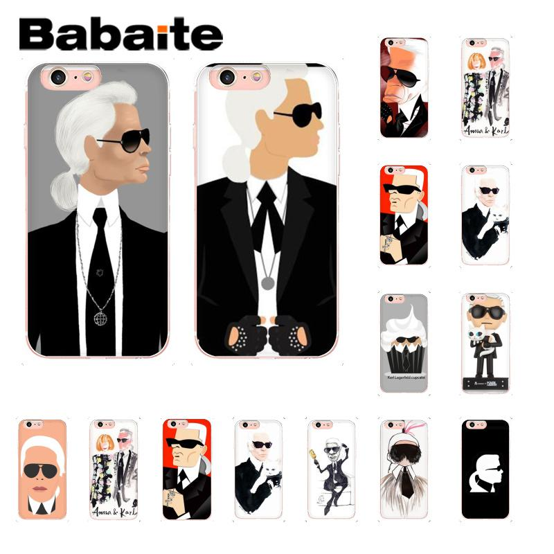 Babaite Karl Lagerfeld Custom Photo Soft Phone Accessories Case for iPh