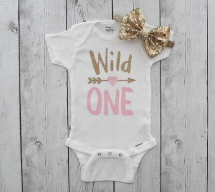 fa4b2d906d65 personalized Wild One first birthday infant bodysuit onepiece Tutu Dress  romper Outfit Set baby shower party favors -in Party Favors from Home    Garden on ...