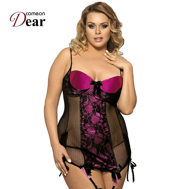 a97f406213a Comeondear New Arrival Sex Sheer Temptation Plus Size Lingerie RJ7329  Strapless Night Wear Good Quality Erotic Lingerie Dress