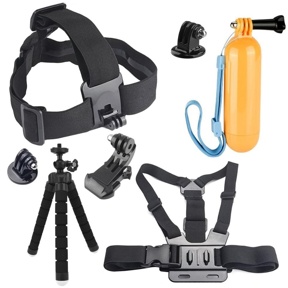 Action Cam Accessories Tripod Chest Head Strap Floating Bobber Mount for XiaoYi SJCAM SJ4000 SJ4000 SJ7 Star SJ6 Gopro 6 5 Eken