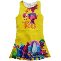 High Quality 2017 New Elf Trolls Children S Clothes Baby Girls Dress Kids Cute Cartoon Princess