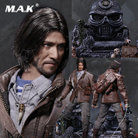 Original POPTOYS 1/6 EX011B Luxury Ver. The Ghouls Touching Gold Captain Hubayi Figure Whole Box figure doll