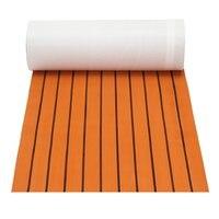 Luxury 60cm X 200cm X 6mm Orange Black Line Boat EVA Foam Floor Mat For Cruise