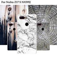 2PCS Wood Design Plastic Cover Case For Nubia Z17S NX563J Case Back Coque Luxury Matte Soft