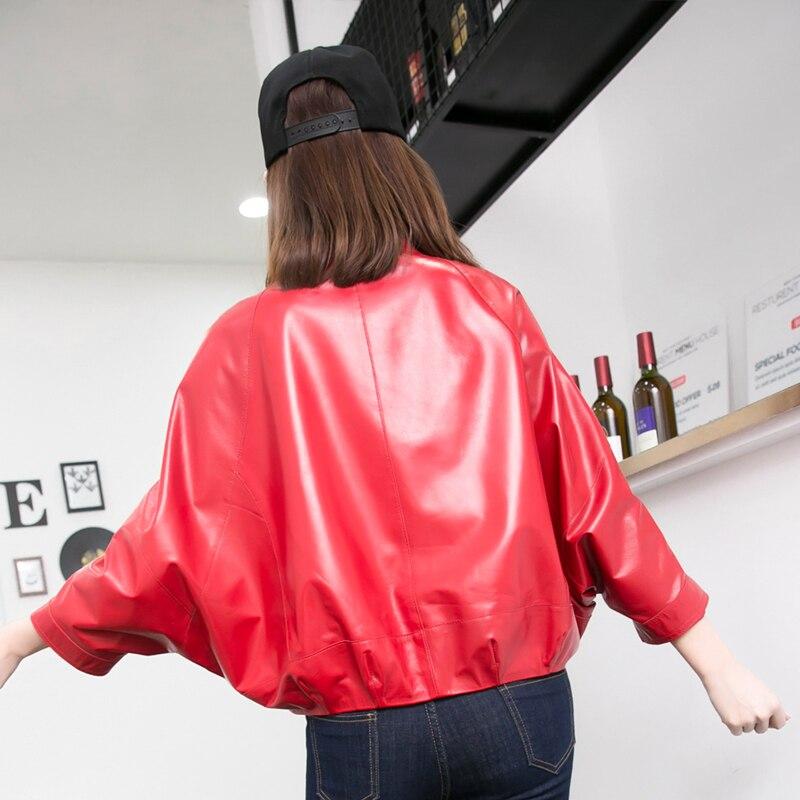 Moto Long Noir Femmes Mode Meilleur Rouge Vestes Fourrure De Cuir En Veste Manteau Suédé FZvxwx5q