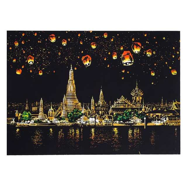 kids can create colorful art Magic Scratch Art Painting Paper With Drawing  Stick Kids Toy 8K 2qw0628