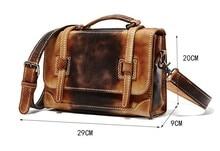 ROWLING Men Briefcases Classic Leather Designer Handbag Shoulder Bag Good Messenger Bag 100% Cowhide Leather Men's Laptop Bag