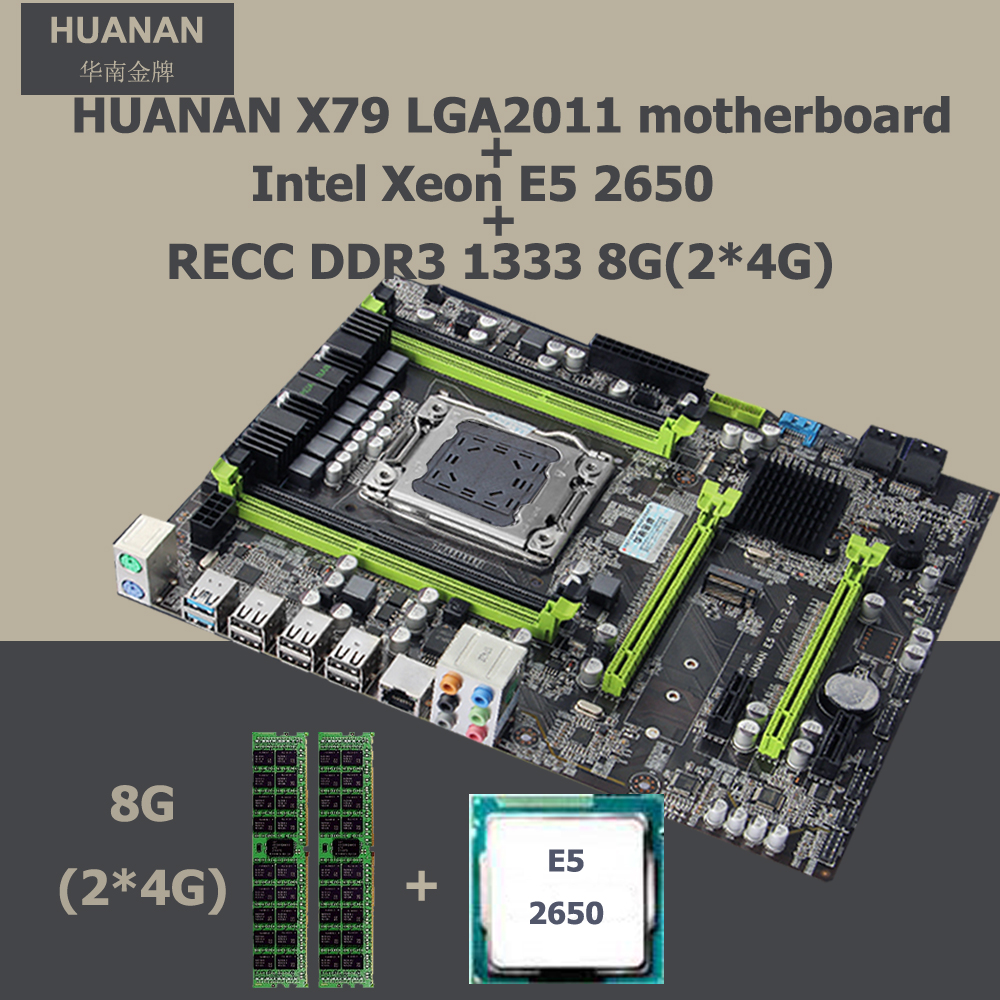 Recommended HUANAN ZHI X79 motherboard CPU Intel Xeon E5 2650 RAM 8G(2*4G) DDR3 RECC PCI-E NVME SSD M.2 port SATA3.0 port getworth s6 office desktop computer free keyboard and mouse intel i5 8500 180g ssd 8g ram 230w psu b360 motherboard win10