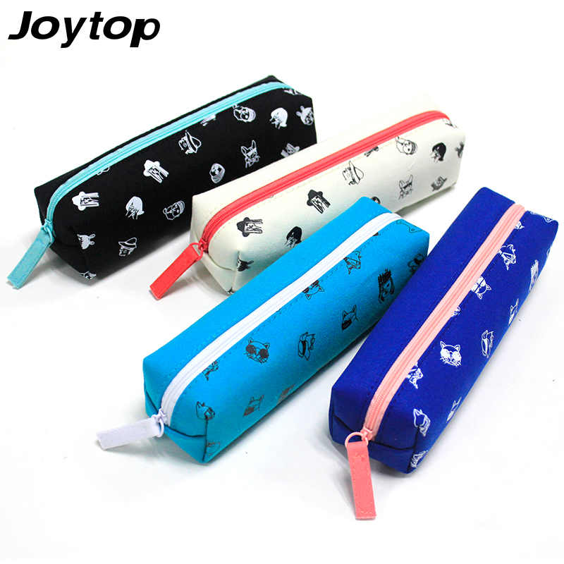 Joytop Canvas Zipper Pen bag Pencil Case Simple Creative Large Capacity Cute Student Pencil Bag Sweet Stationery School supplies students simple large capacity pencil bag large capacity creative black and white pencil case school supplies q13