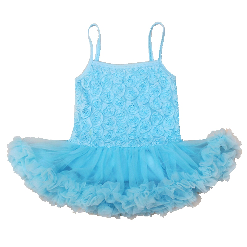 3D Flower Sky Newborn Baby Girl Romper Dress Tutus Bebes Jumpsuit Lace Rompers For Girls ...